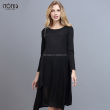 Fashion occident maternity clothes pregnant breastfeeding dress