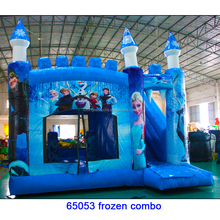 Digital printing cheap commercial Frozen bounce House inflatable bouncer for sale