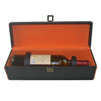 Newest Luxury Leather Wine Glass Carrier Made In China