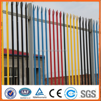 Rotatable galvanized powder coated steel fence(SGS FACTORY)