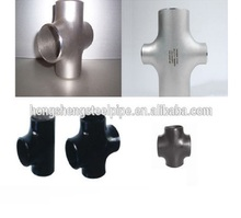 ASTM A 234/ ASME/ ANSI B 16.9 carbon steel pipe fitting cross SCH 40 connector