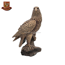 Facotry custom made home dec resin outdoor bronze eagle sculpture