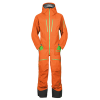 100% nylon one piece ski overall snowboard suit waterproof and breathable suit men low MOQ