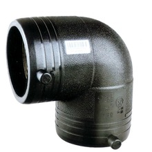 DN63 electric fusion 90 degree elbow plastic pipe fittings for gas and water suply