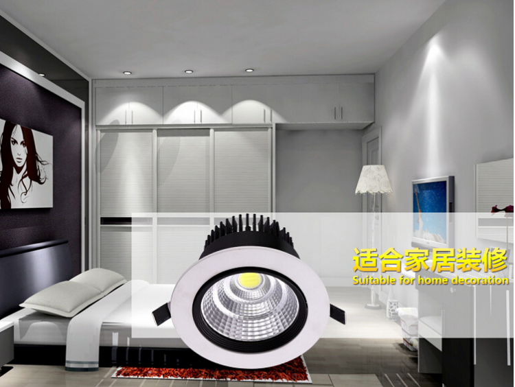 China factory bridgelux cob 18W 20W 40W 60W 50W squared downlight led