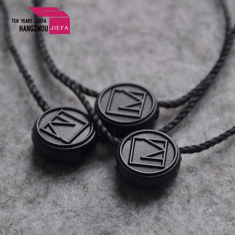 wholesale Plastic tags nylon cord loop lock hang tag seal tag with string