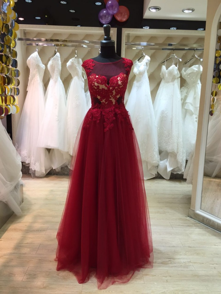 italian design flowing long chiffon evening dress red color