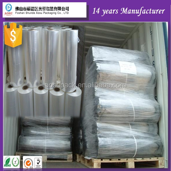 China manufacturer POF/PE/PVC heat shrink film /clear heat shrink plastic film in <strong>roll</strong>