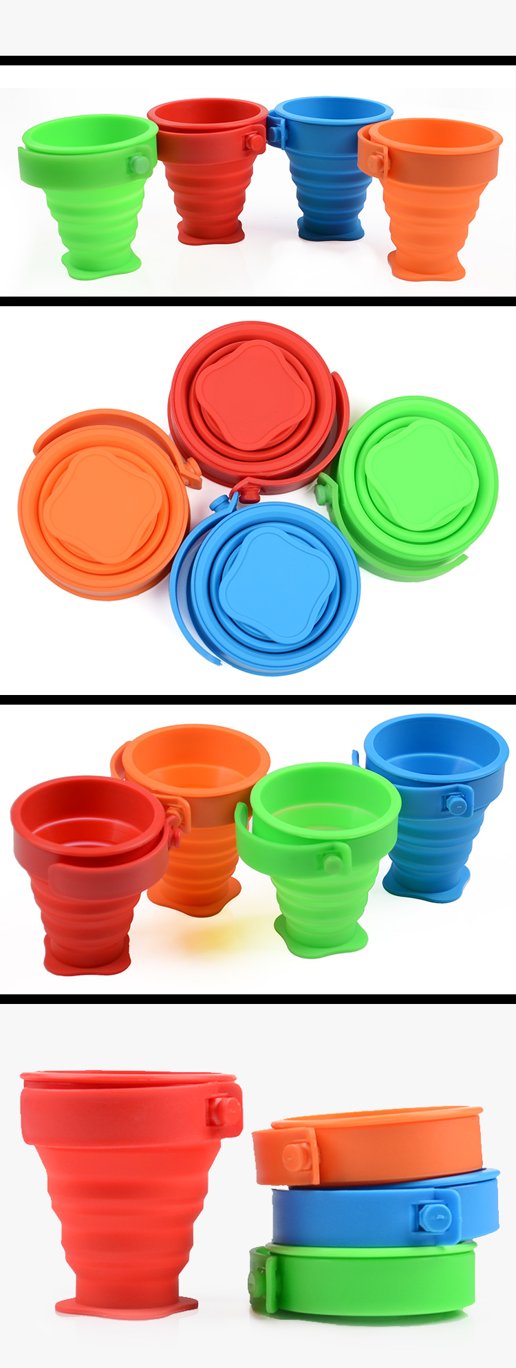 best seller 2018 silicone rubber folding cup