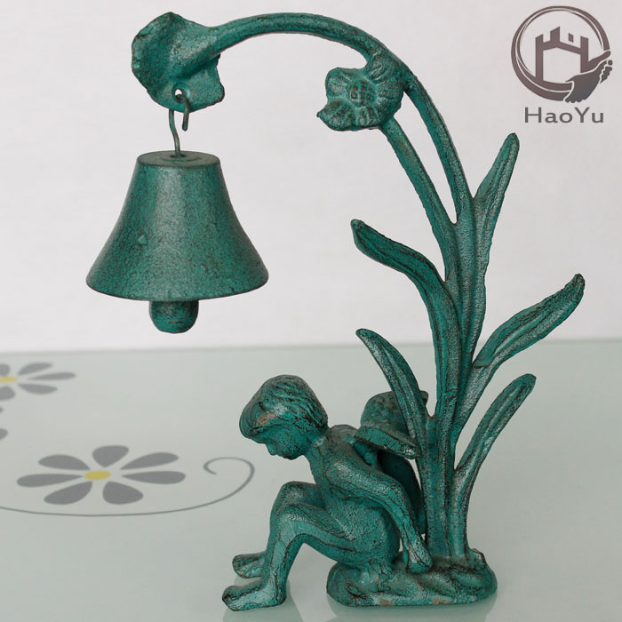 home decoration cast iron bells for sale the angel Evening bell