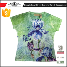 Newest slim fit blank t-shirt all over sublimation printing With Trade Assurance