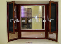 Hot sale thermal break aluminum casement windows with built in blinds