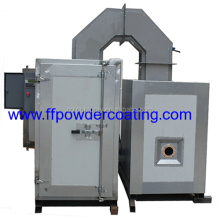 Gas Indirect Fired Powder Coating Curing Oven for powder coating sale