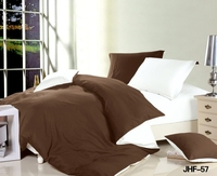 Hotel bedsheet Popular Chocolate and White bedding set