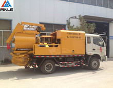 small concrete mixer truck with pump 40m3/h for hot sale