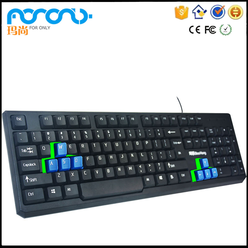 Foronly BH-100 Compact custom language arabic wired computer Mechanical Gaming keyboard