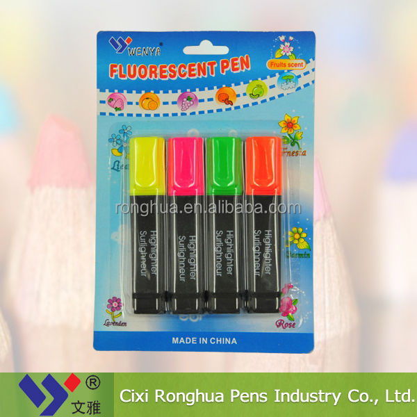 Chisel Marker Point Style multi color erasable highlighter pen set