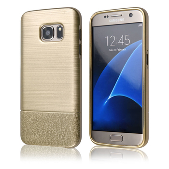 C&T Electroplate Gold TPU Back Cover with Brushed Design For Samsung S8
