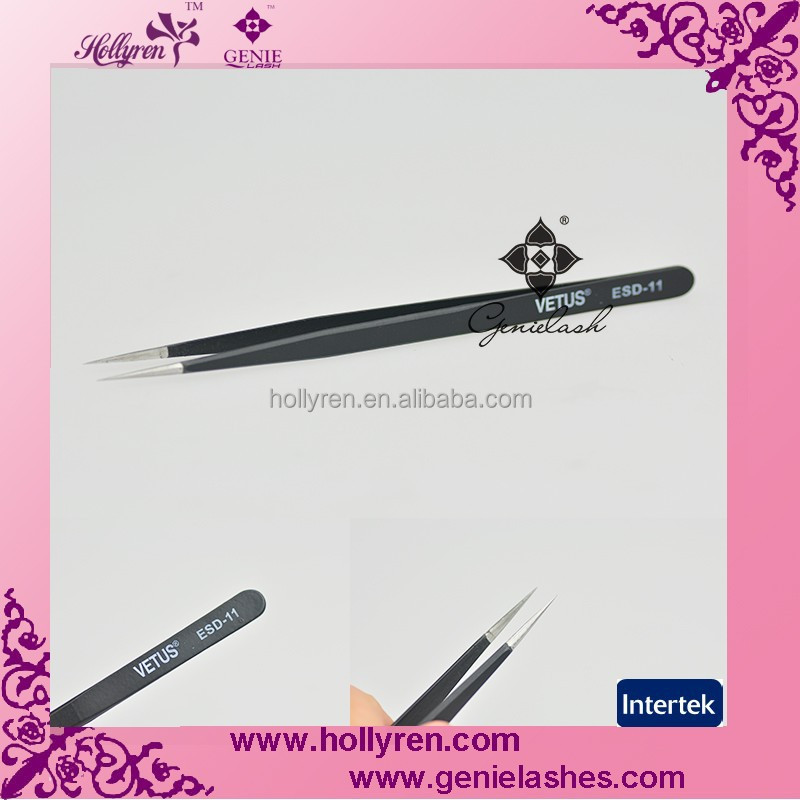 High Quality Light Eyelash Extension Tweezer with Anti-Static Coating ESD11