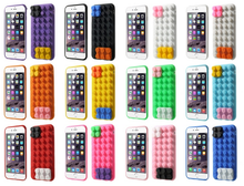 Building Block Design Protective Silicone Case for iPhone 6