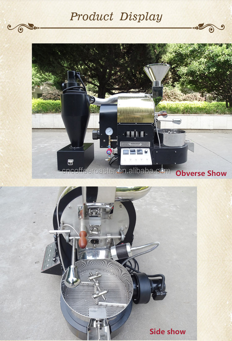 2018 Dongyi 2kg Coffee Roaster for shop/electric&gas coffee bean roaster machine
