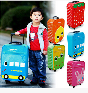 2016 cheap children &kids travel luggage trolley bag