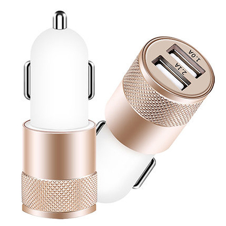 electric car charger for cell phone car phone charger with dual 2 ports charger for car