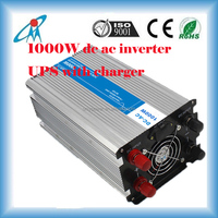 1000W power inverter 12V/24Vdc to 220Vac pure sine wave inverter with battery charger ups inverter battery charger