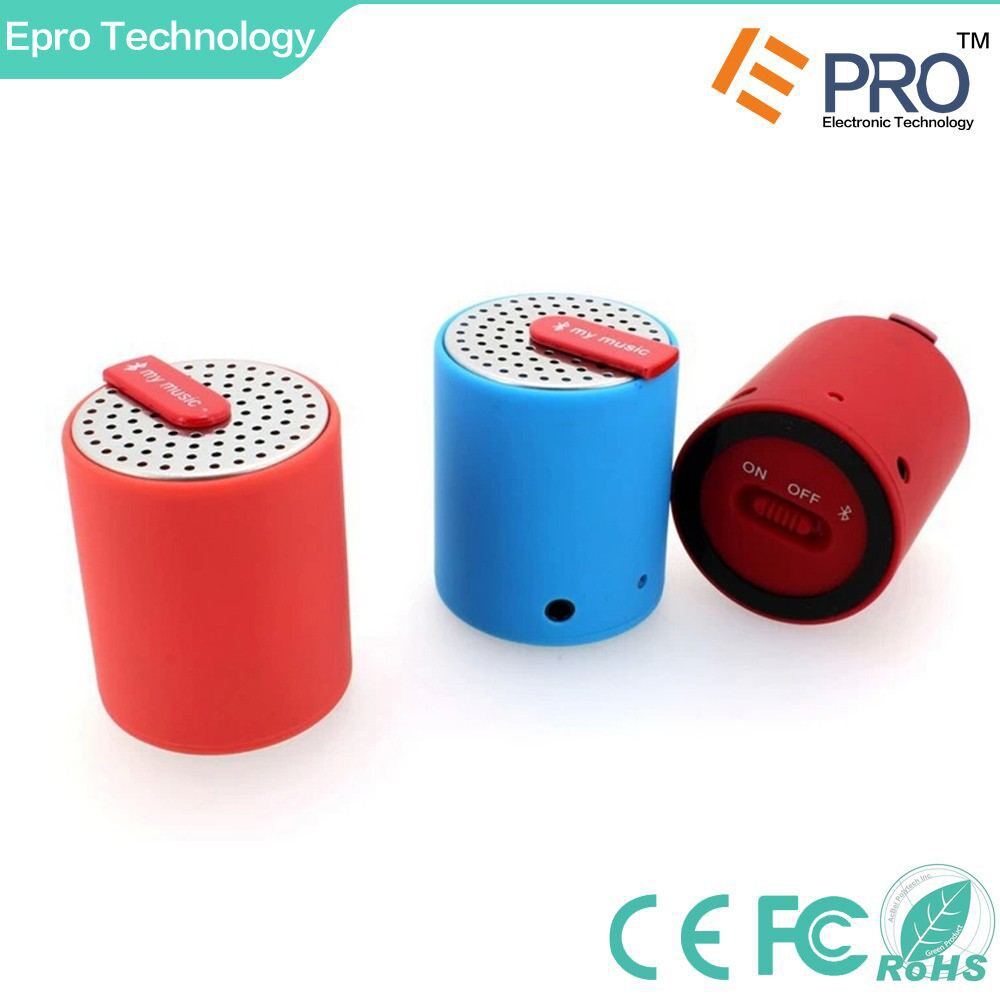 Cylinder Drum Shaped Mini Bluetooth Wireless Speaker for iPhone iPod iPad Android or any Smartphone or Bluetooth Enabled Device
