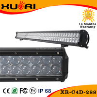 Auto parts accessories Products 2 Rows 4D Reflector 44 inch truck led light bars spot lights bar 288W high power LED LIGHT BAR