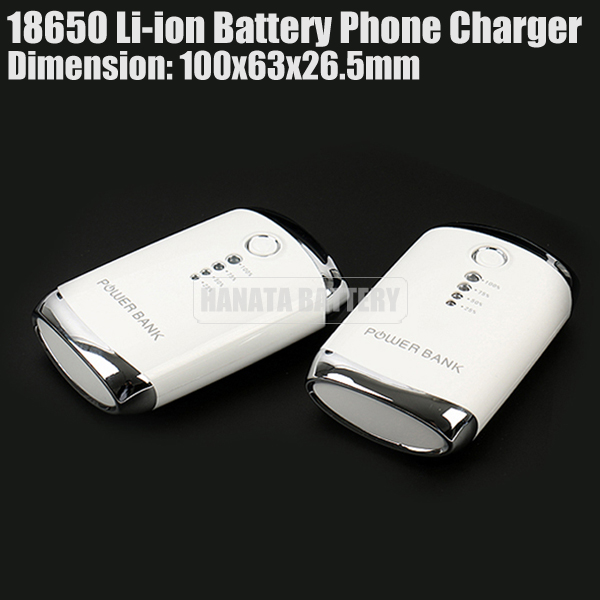 7800mAh 18650 Li-ion Battery Phone Charger 4 Step Indicator Portable Power Bank Made in China