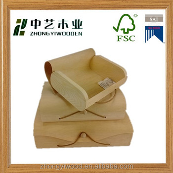Trade assurance mini Wooden gift box FSC soft wood birch bark box