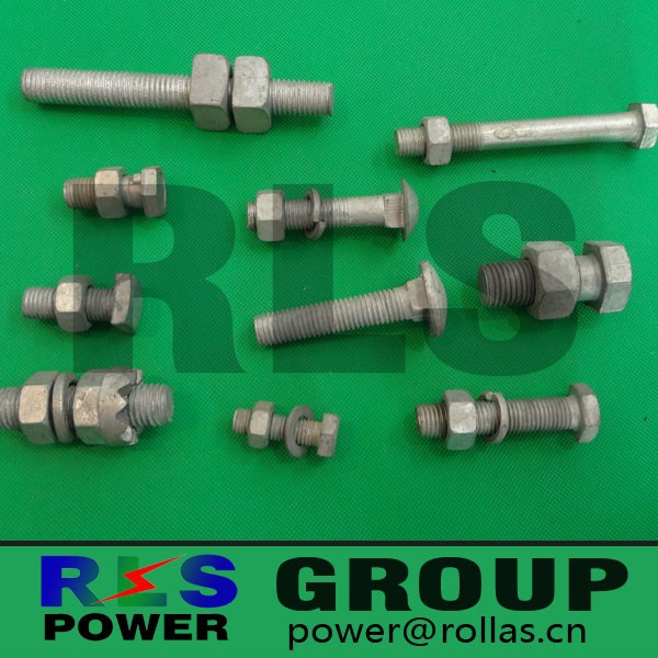 Hot dip galvanized- Hexagonal bolt /carriage bolt/square bolt used for link the fittings