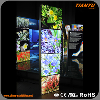Picture frame/frameless led light box advertising