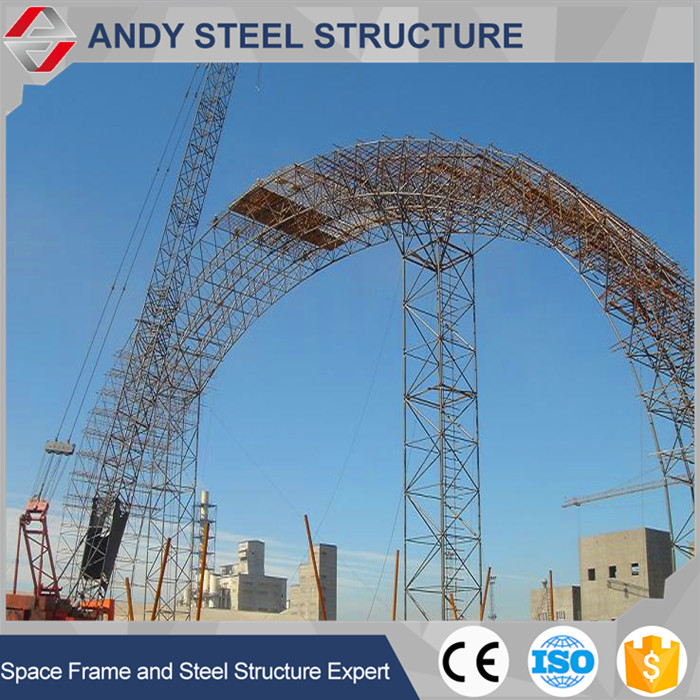 High Quality Long Span Space Frame coal shelter project at power plant