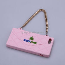 The handbag type silicone cell phone accessory for phone case