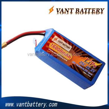 VANT 22.2V 25C 16000mAh 6S1P UAV Rechargeable Lipo Battery For DJI S1000 heli model