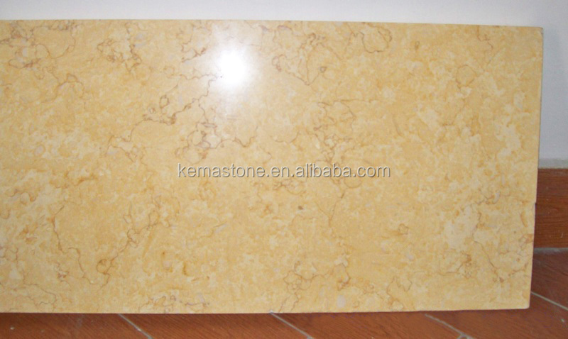 Polished Sunny Beige Marble Floor & Wall Tiles, Beige Marble For Interior Decoration