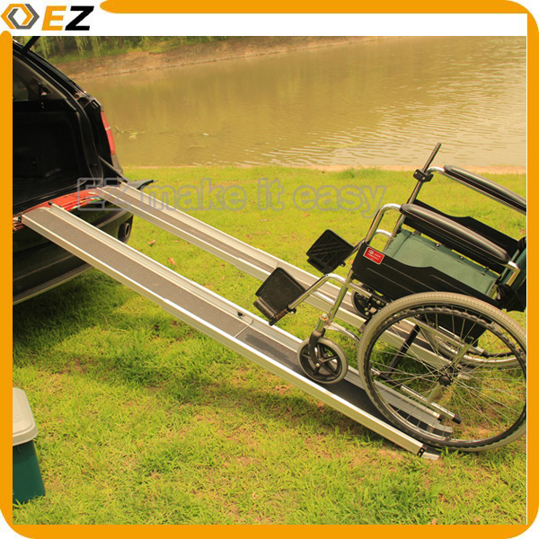 Telescopic two-section Aluminum Wheelchair Ramps for disabled handicapped with CE