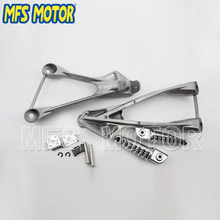 Foot Pegs Bracket For Kawasaki ZX6R 2005 2006 2007 2008 Silver Motorcycle parts