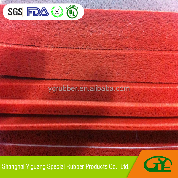 high density silicone rubber foam for mug press heating element