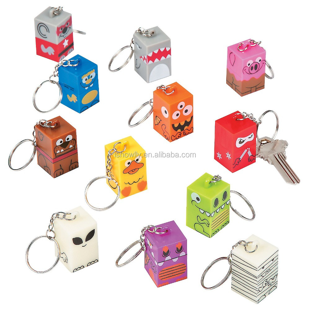 New Design Customized Logo Hot Sale Fashionable Promotional Gifts Wholesale Cheap Plastic Stackerz Collectable Key Chains