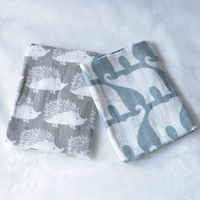 Wholesale baby Muslin Wrap 100% organic cotton swaddle