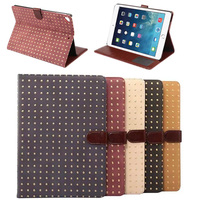 High quality Rivet Pattern case for ipad air 2, for ipad 6 cover, for ipad pu leather case