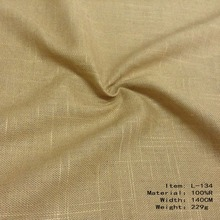 Wholesale Good Quality Garment And Dress natural dying plain 100% Ramie Fabric