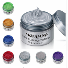 Fashion Hair Styling Pomade Silver Ash Grandma Grey Hair Wax Men Temporary Disposable Hair Dye Coloring Mud Cream