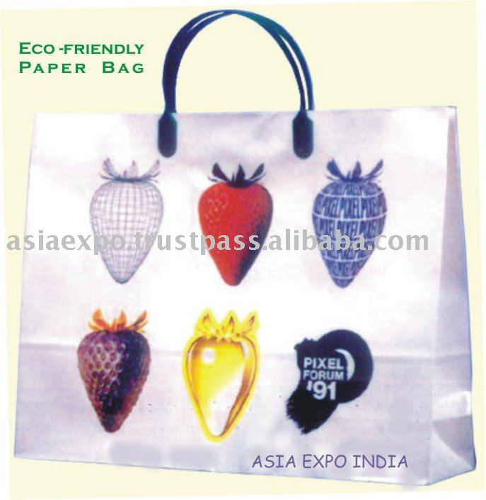 Eco Friendly Paper Bags Printed multicolored