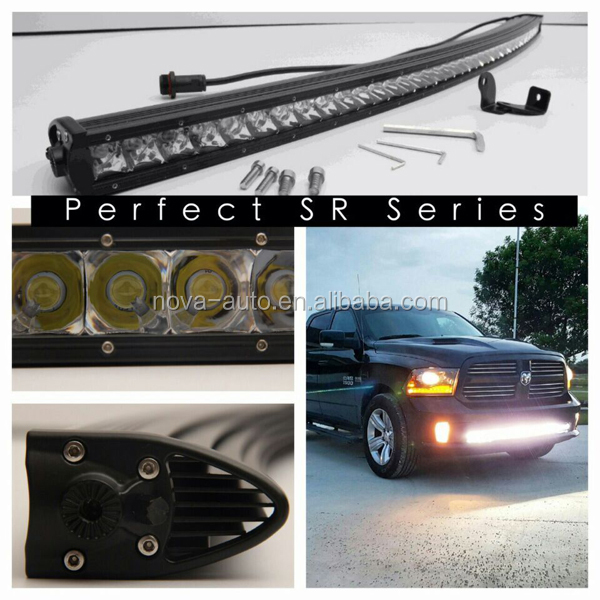 Slim Curved 4x4 Jeep Battery Powered Tractor Led Light Bar Off Road