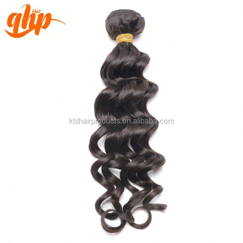 QHP hair Wet and wavy indian remy hair weave Ali Queen, 100% unprocessed virgin indian remy hair