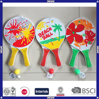 Promotional Wood Beach Racket With Ball